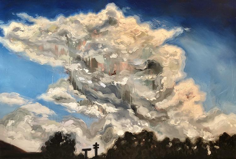 Rachel Evans Grant paintings exhibit in the Circle Gallery