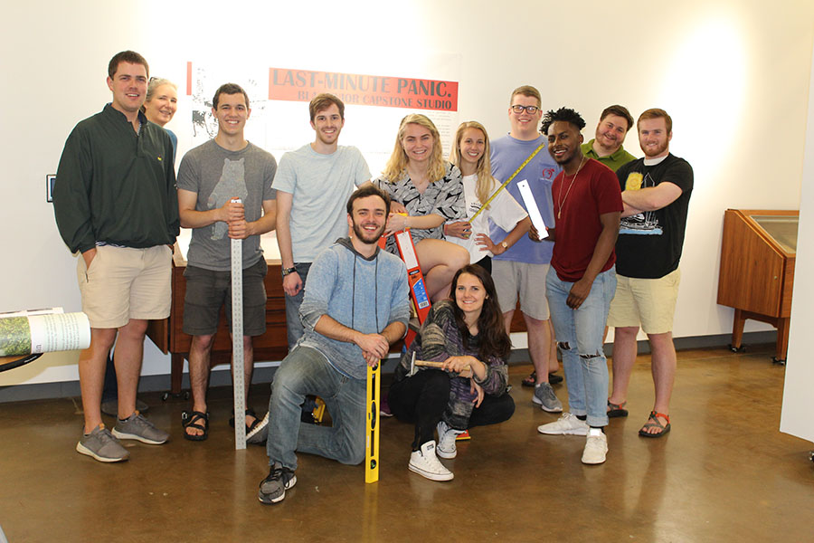 Last-minute Panic! BLA Senior Capstone projects now in the Circle Gallery
