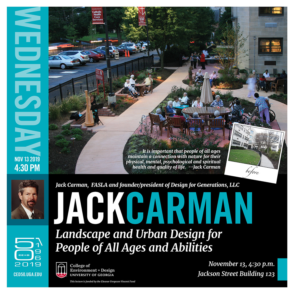 Jack Carman, FASLA, to lecture on the design of therapeutic gardens