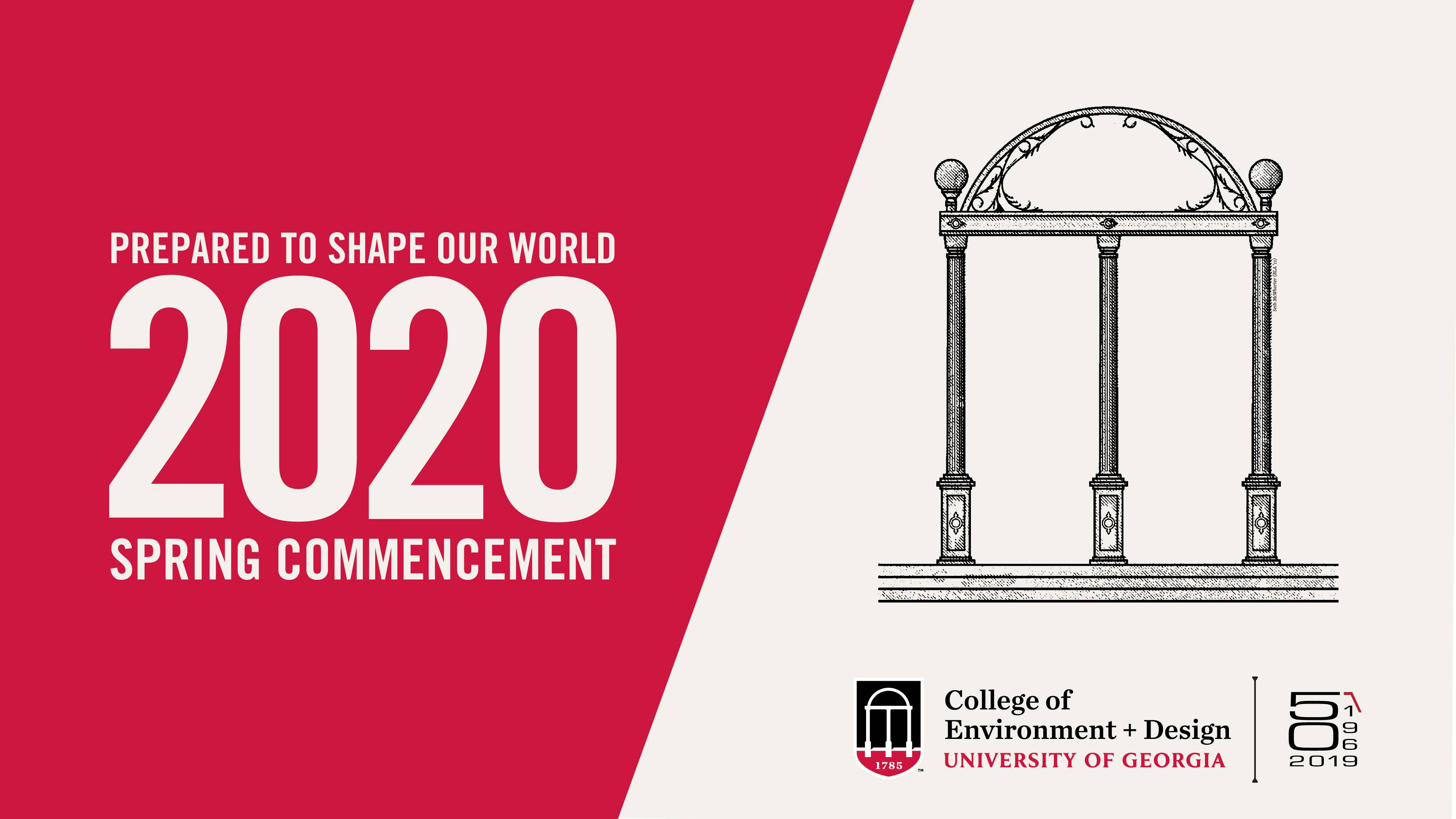Video title card of spring 2020 commencement video