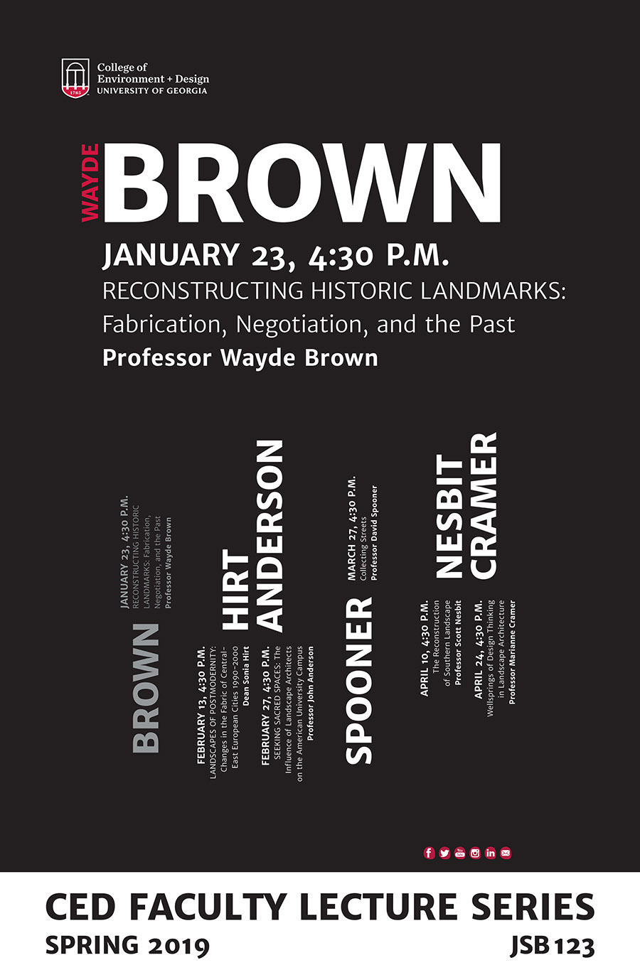 Brown poster