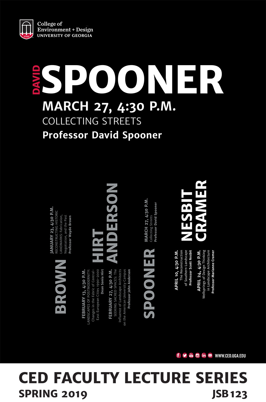 spooner lecture poster